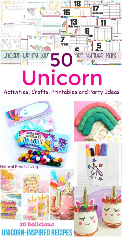 unicorn coloring pages  unicorn preschool theme activities natural beach living