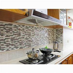 3d adhesive faux tile vinyl peel and stick tiles subway With kitchen cabinets lowes with 3d vinyl wall art