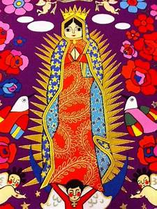 Our Lady of Guadalupe La Virgencita Mexico Folk Art Latin