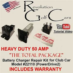 Hd Battery Charger Repair    Rebuild Kit    Powerdrive2    Warranty For Club Car