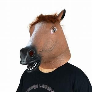Latex Brown Horse Head Mask - GLM-A0002BR | LarpGears