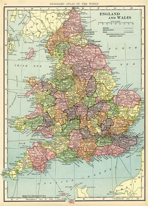 map  england  wales  vintage image  design shop blog