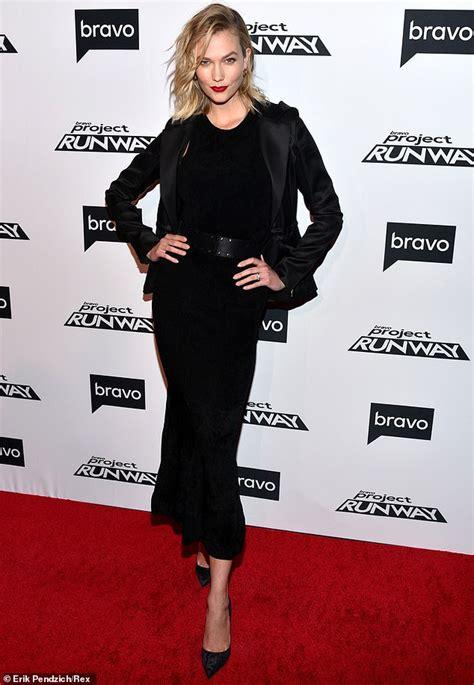 Karlie Kloss Sophisticated Chic Black Dress