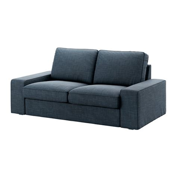 canapé ikea 2 places kivik sofá 2 lugares hillared azul escuro ikea