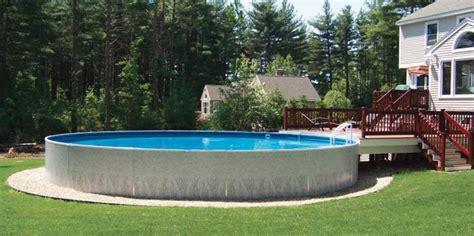 semi inground pools royal swimming pools
