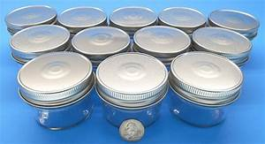 Set of 12 4 oz mason jars with smooth sides easy to for 4 oz mason jar lid labels