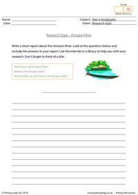 research topic amazon river