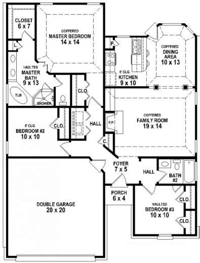 2 bedroom cers for l shaped house plans with 3 car garage home desain 2018
