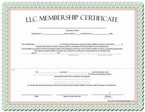 Llc Membership Certificate Template Word Images Certificate Design ...