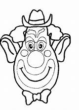Coloring Pages Clowns Clown Face sketch template