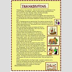 Thanksgiving  Reading For Pre Intermediate  Esl Worksheets Of The Day  English Reading