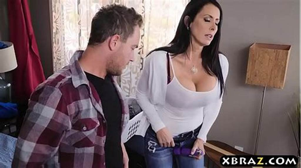 #Stepmom #With #Big #Tits #Fucks #Stepson #While #Dad #Is