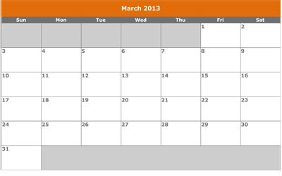 march  calendar template ws templates forms