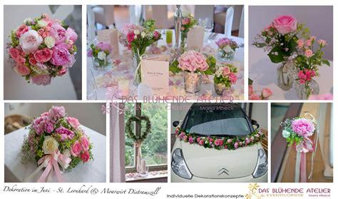 blumenschmuck hochzeit hortensien hochzeitsdeko in rosa t 246 nen creme hellgr 252 n aus pfingstrosen hortensien das bluehende