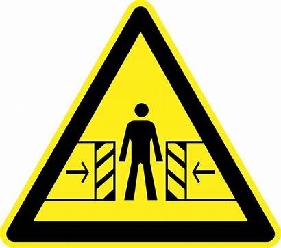 Warning Hazard Signs Crushing Clipart Risk Door