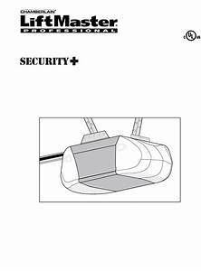 Chamberlain Garage Door Opener User Manual