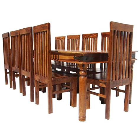 Not sure which dining table dimensions are right for you? Rustic Lincoln Study Large Dining Room Table Chair Set For 10 People