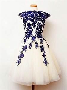 beaucoup de photos de la robe de soiree courte tendance 2015 With robe blanche et bleu