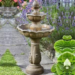 Kingsbury, 3, Tier, Solar, Garden, Water, Feature, Fountain