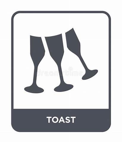 Icon Toast Isolated Symbol Trendy