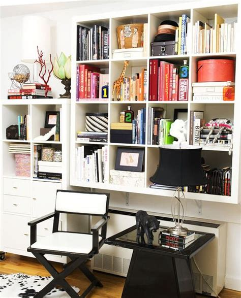 Bookshelves Lined With Pretty Things Make Your Space