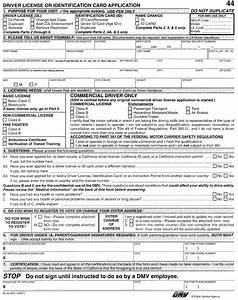 california motor vehicle department form dl 44 With documents needed for dmv drivers license