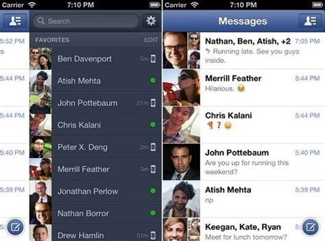 messenger for iphone android updated brings in