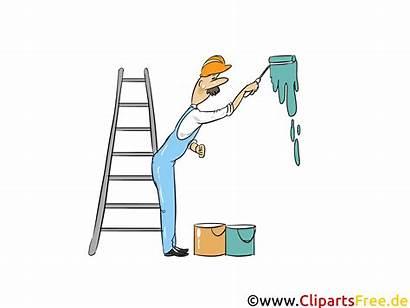 Maler Arbeit Industrie Cliparts Illustrationen Grafiken Wirtschaft