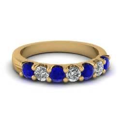 Diamond Anniversary Ring Yellow Gold Wedding Band