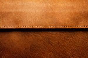 Edged Brown Leather Texture
