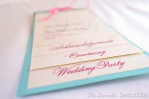 diy ceremony program fans diy wedding revisited program templates the domestic