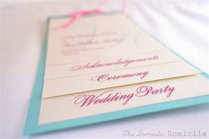 Diy wedding revisited program templates the domestic for Diy wedding invitations programs free