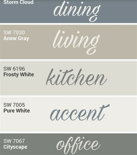 sherwin williams whole home palette paint colors i like