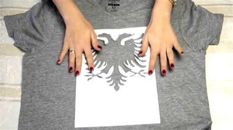 diy  shirt selbst bedrucken mit shqiponje muster youtube