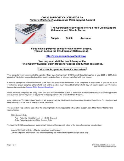 child support worksheet az worksheets releaseboard free