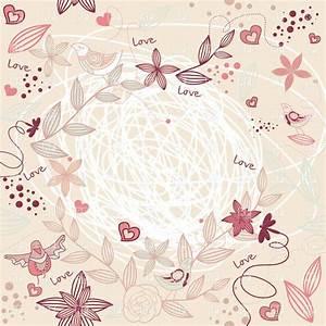 Floral pastel frame - spring background Royalty Free ...