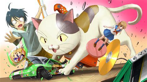 All Male Animal Bell Black Hair Cat Male Nyan Koi Short