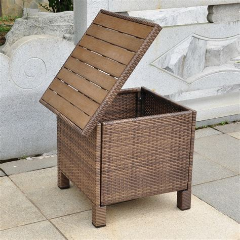 outdoor side tables with storage home design ideas