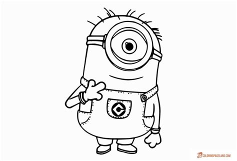 Kleurplaat Minion Ukelele by Minion Coloring Pages 36 Minions Coloring Pages