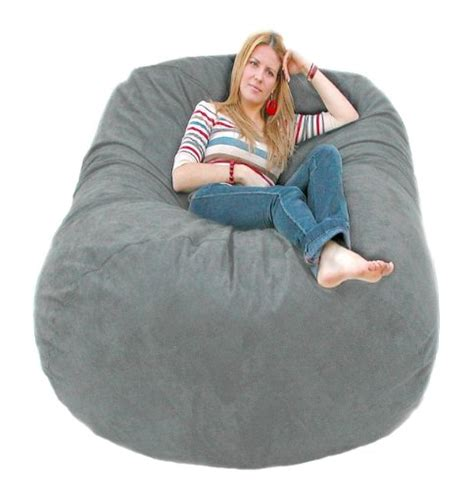cozy sack 6 bean bag chair large grey b0064syzdk