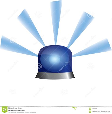 Blue Emergency Lights by Blue Emergency Light Stock Photo Image