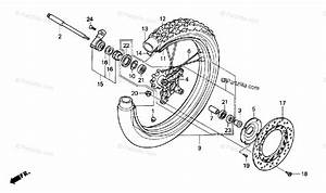 Honda Motorcycle 1994 Oem Parts Diagram For Front Wheel
