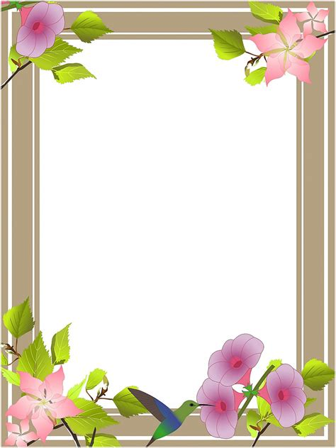 clipart flower borders  frames   cliparts