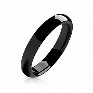 black tungsten unisex ring 4mm With unisex wedding rings