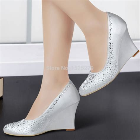 wedges wedding shoes shoes dyeable wedding shoes silver wedges for wedding 1239