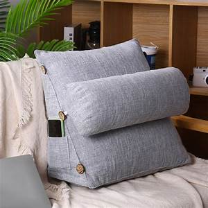 17, 7in, Sofa, Wedge, Pillow, For, Relaxing, U0026, Lumbar, Support, Heights, Adjustable, Back, Support, Pillow