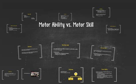 Exles Of Skills And Abilities by Motor Ability Vs Motor Skill By Hellesto On Prezi