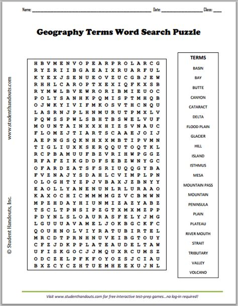 science vocabulary word search worksheet geography terms word search puzzle social studies 5th