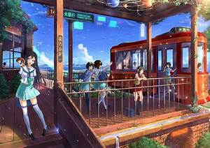 Original, Characters, School, Uniform, Anime, Anime, Girls, Wallpapers, Hd, Desktop, And, Mobile