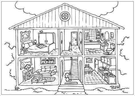 Moderne Häuser Zum Ausmalen by Ausmalbilder Haus Zum Ausdrucken Ausmalbilder
